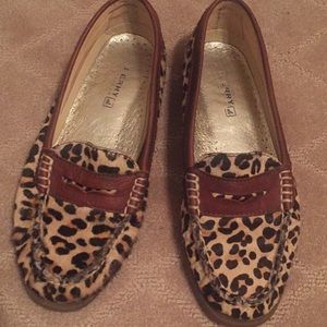 Sperry Leopard Loafers 7M